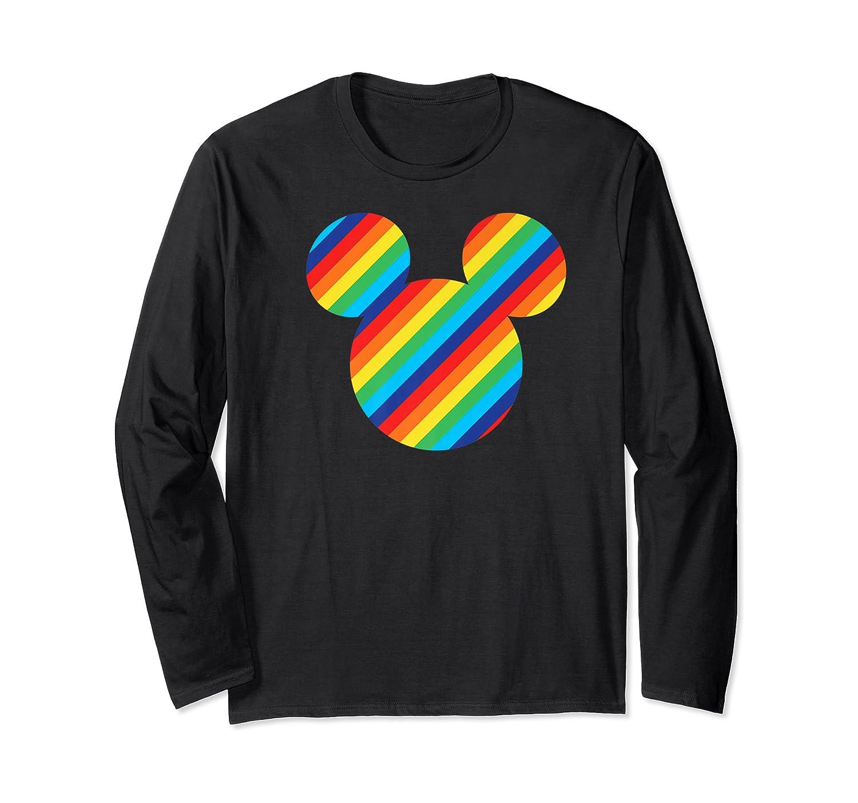 Mickey Mouse Rainbow Icon Shirts Long Sleeve T-shirt