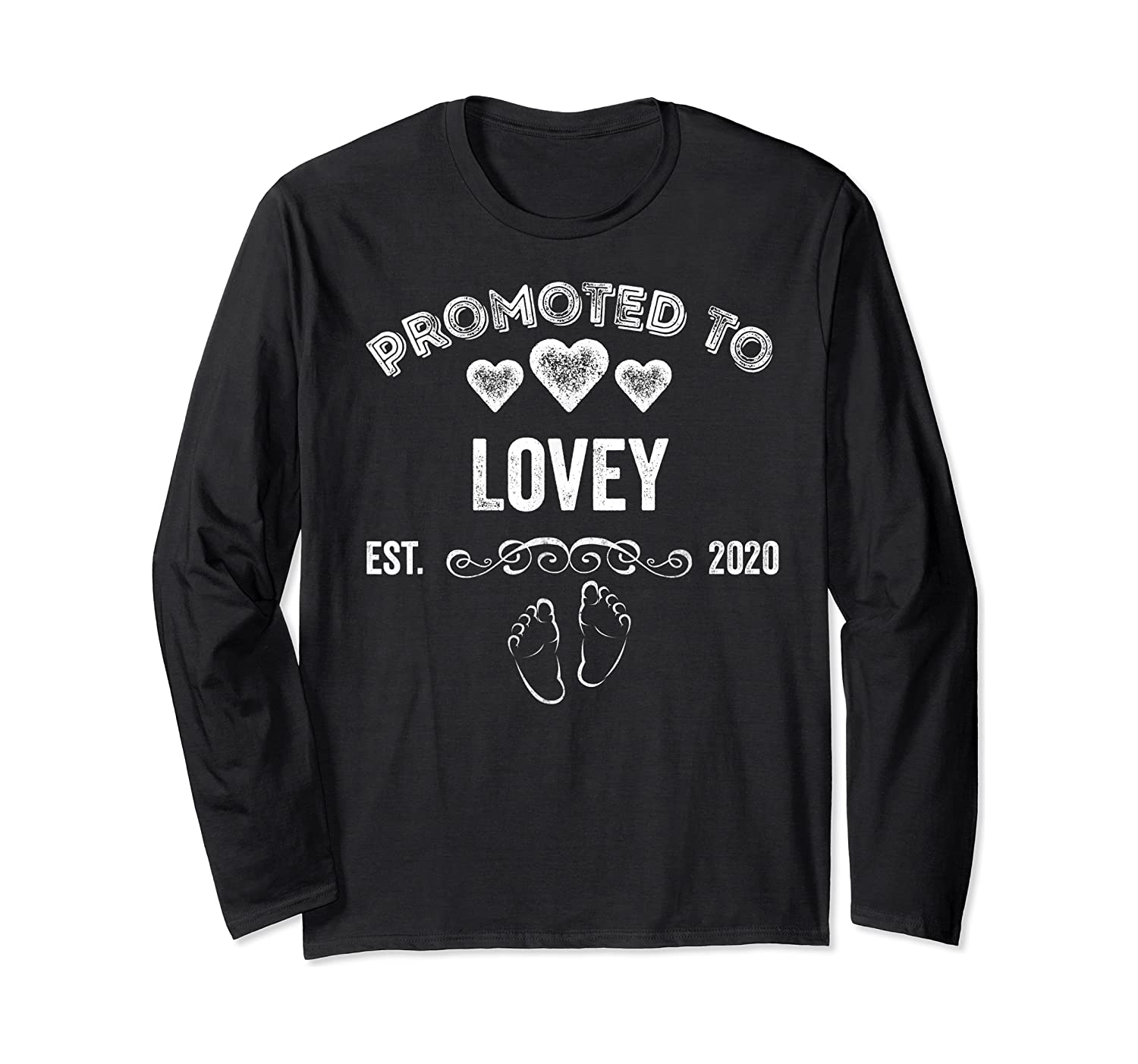 Promoted To Lovey Est 2020 Shirt Gift For Mom T-shirt Long Sleeve T-shirt