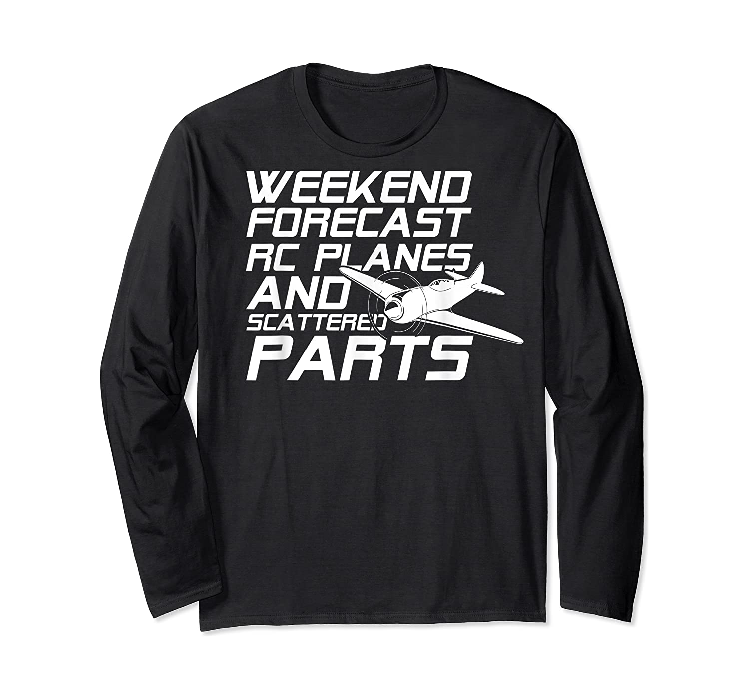 Rc Plane T-shirt For Guys Rc Planes And Scattered Parts Long Sleeve T-shirt