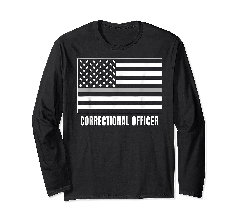 Correctional Officer Shirt Thin Gray Line T-shirt Gift Long Sleeve T-shirt