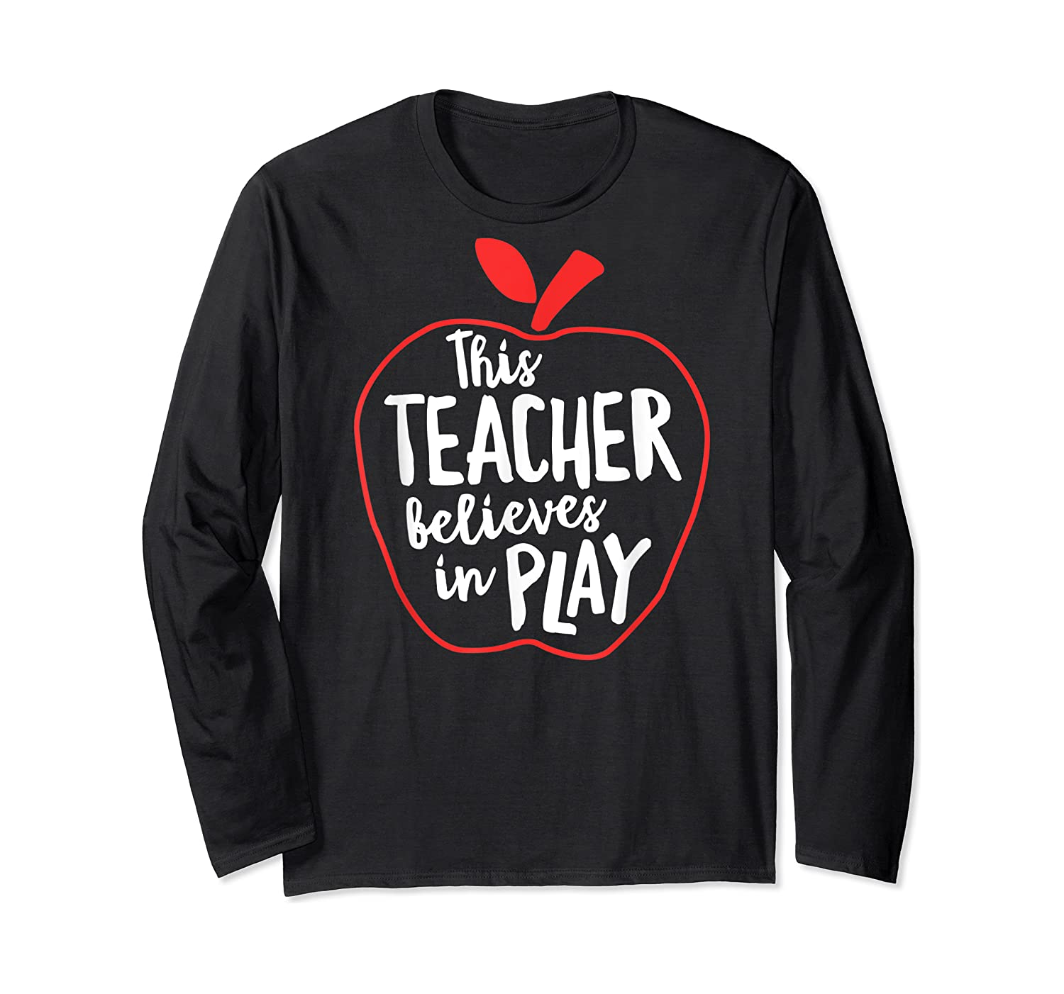 This Tea Believes In Play Tea Shirt With Apple T-shirt Long Sleeve T-shirt