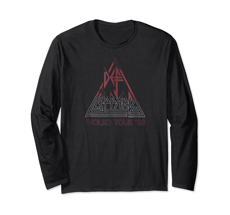 Def Leppard World Tour '83 Shirts Long Sleeve T-shirt