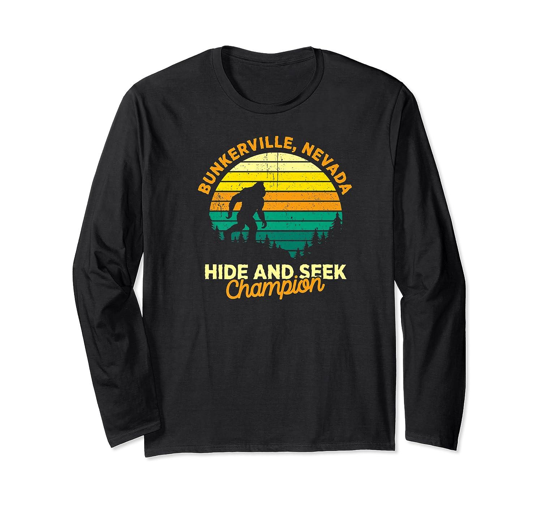Retro Bunkerville, Nevada Big Foot Souvenir Shirts Long Sleeve T-shirt