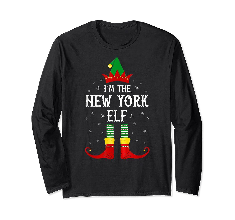 I'm The New York Elf Family Group Christmas T-shirt Long Sleeve T-shirt