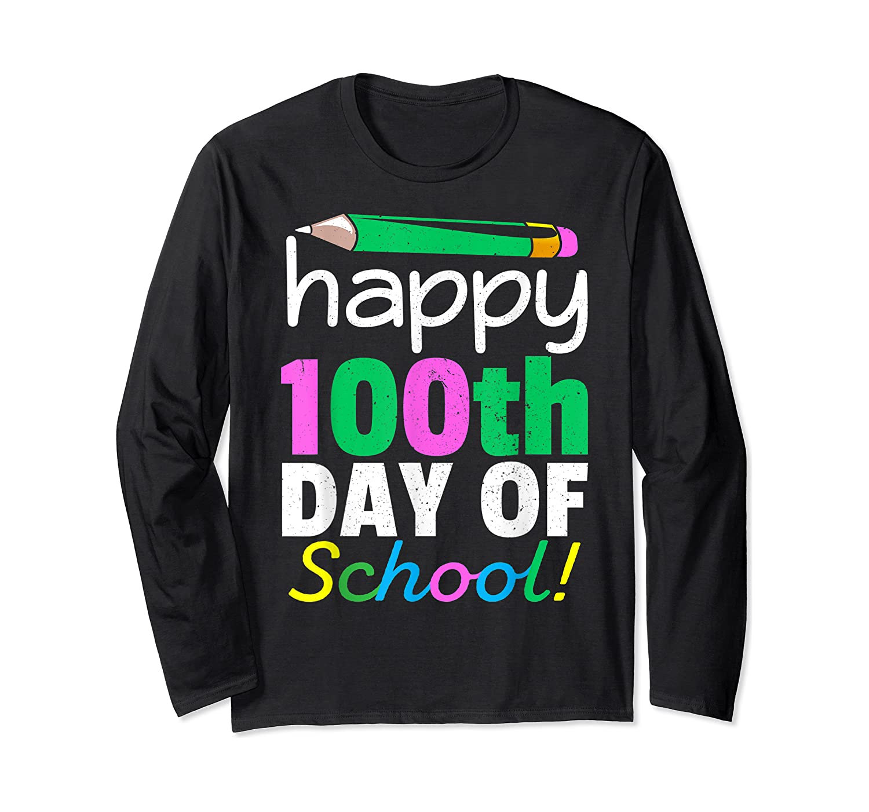100th Day Of School Grade Tea Shirts Long Sleeve T-shirt