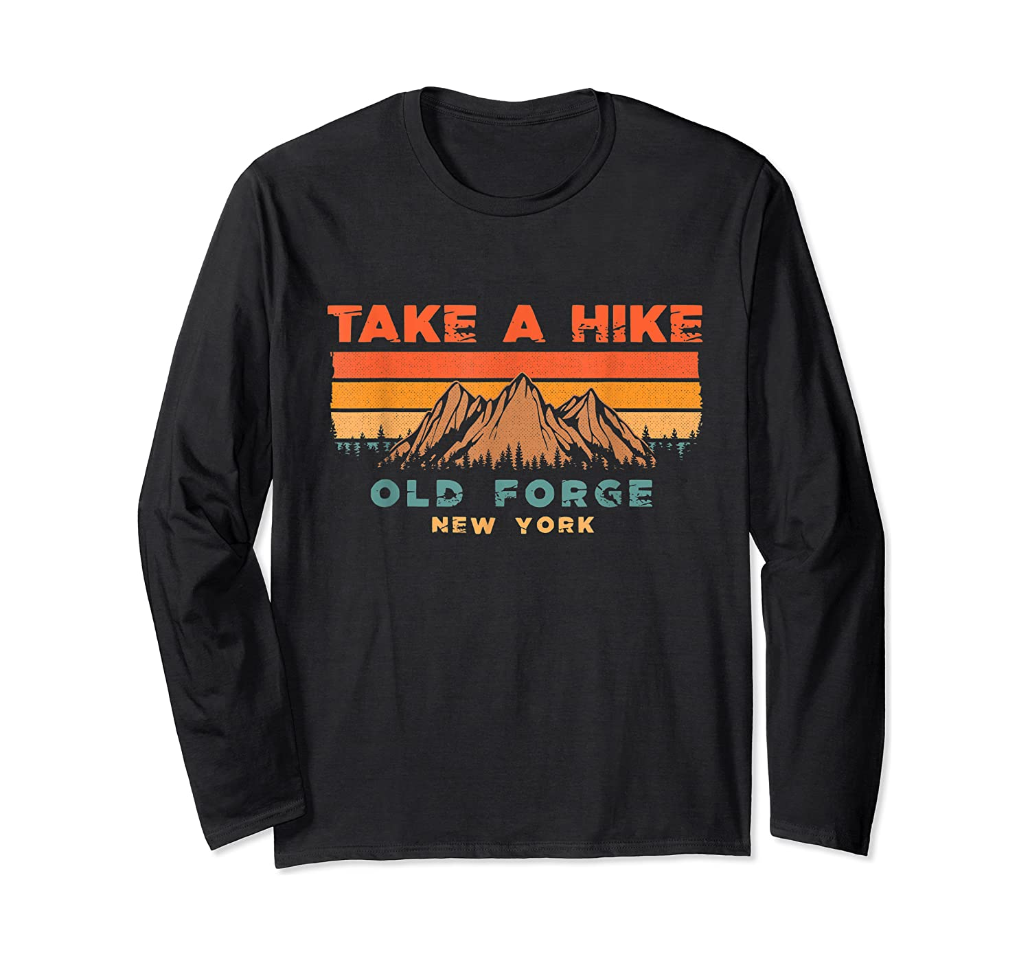 New York Vintage Take A Hike Old Forge Moutain T-shirt Long Sleeve T-shirt