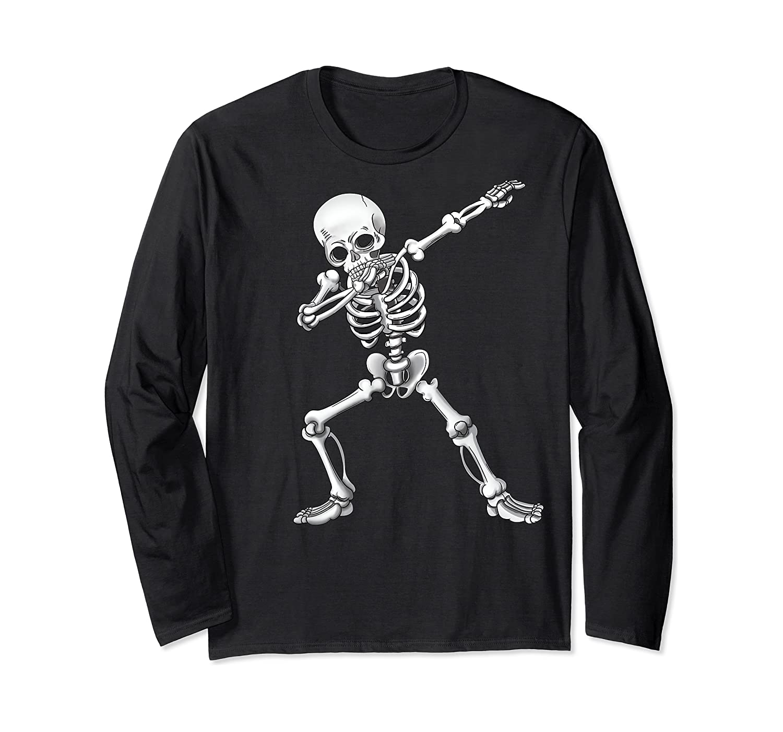 Dabbing Skeleton Halloween Costume Gift T-shirt Long Sleeve T-shirt