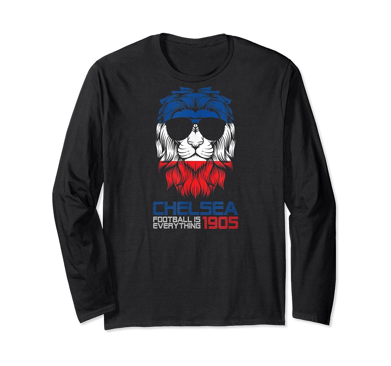 Football Is Everything - Chelsea Lion Pride Retro T-shirt Long Sleeve T-shirt