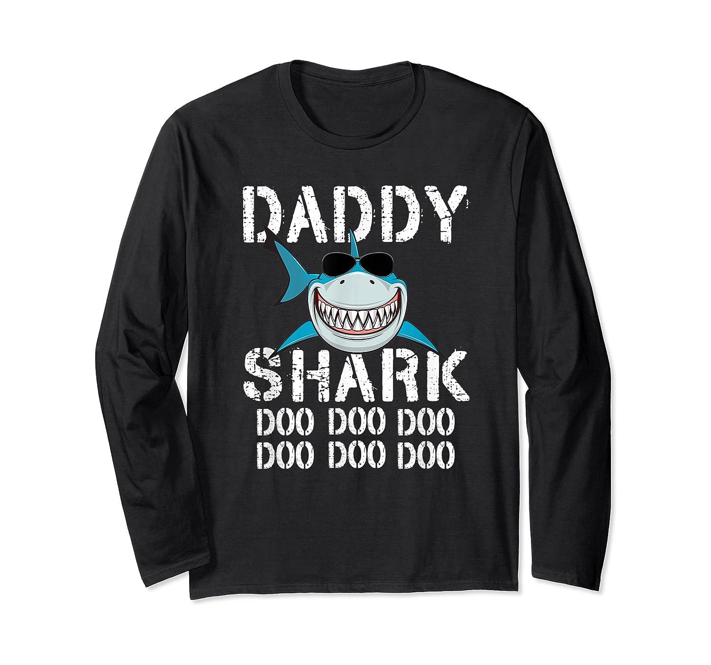 Daddy Shark Doo Doo Family Matching Shirts Long Sleeve T-shirt