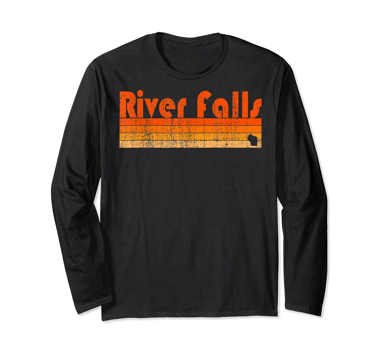 Retro 80s Style River Falls Wi Shirts Long Sleeve T-shirt