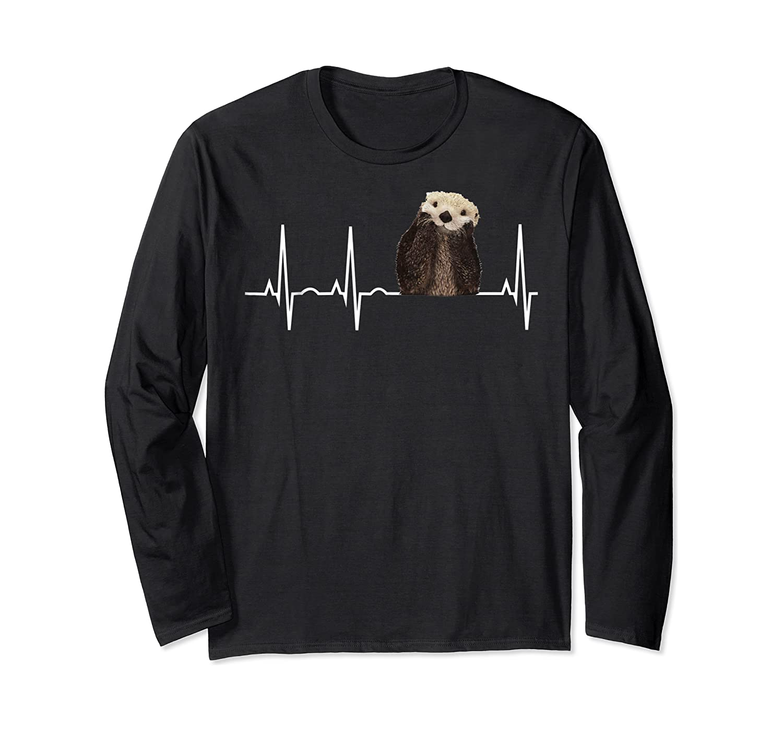 Otter Heartbea Cute Otter Lover Gift Shirts Long Sleeve T-shirt
