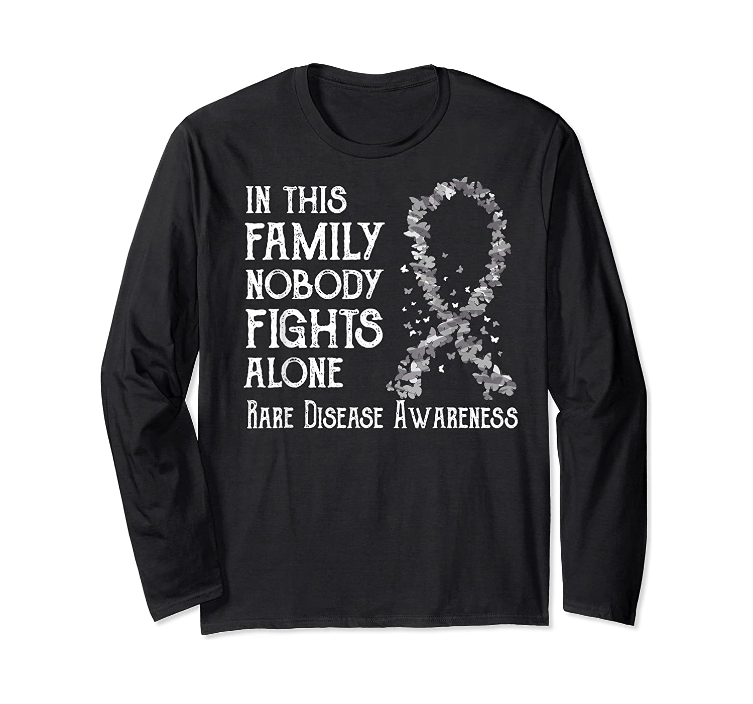In This Family Nobody Fights Alone Rare Disease T-shirt Long Sleeve T-shirt