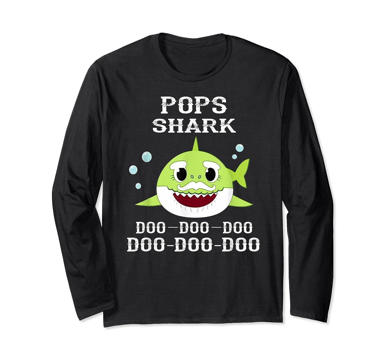 Pops Shark Doo Doo Doo Matching Family Shark Shirts Long Sleeve T-shirt