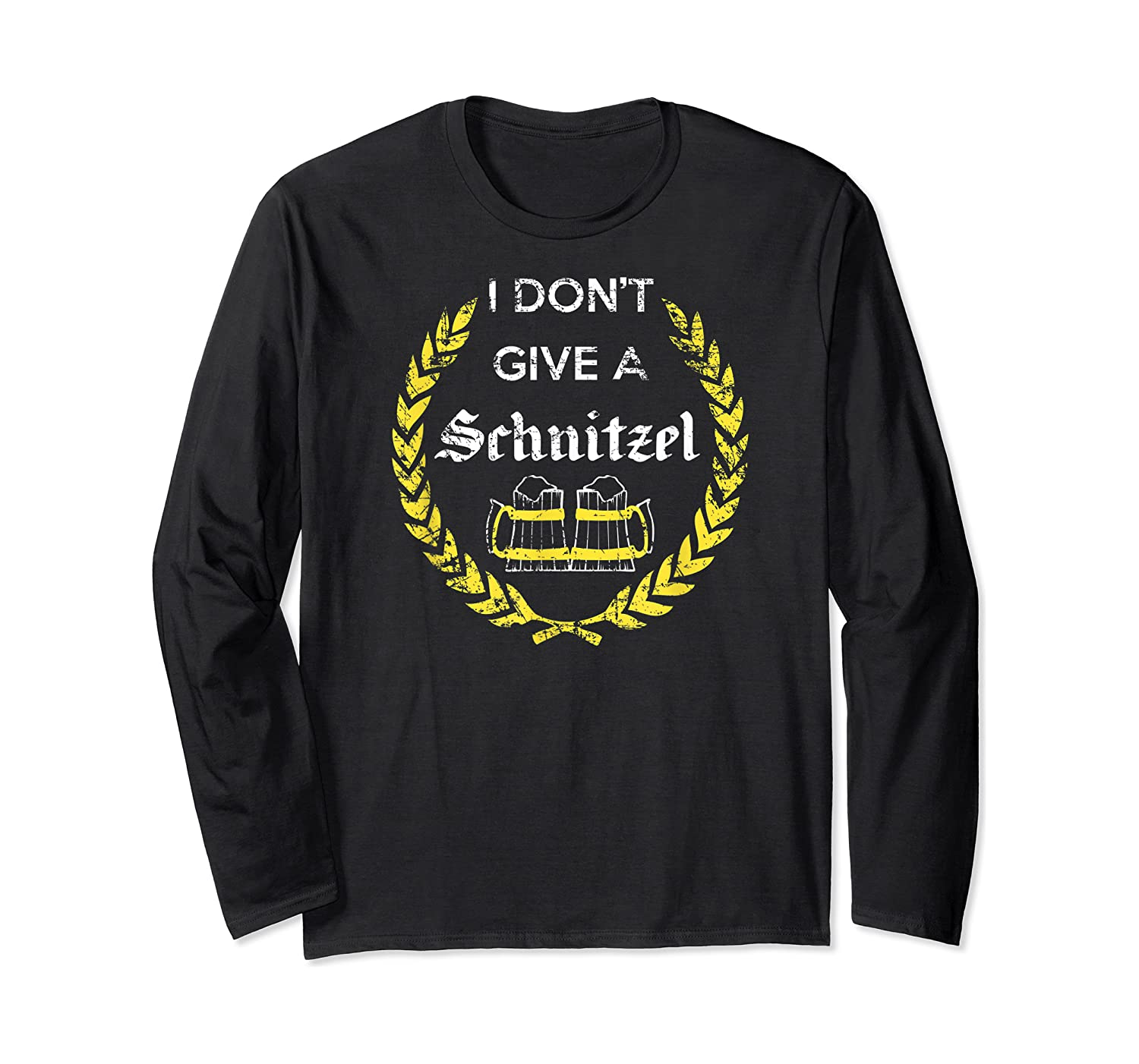 I Don't Give A Schnitzel Shirt, Funny Beer Drinking Gift Long Sleeve T-shirt