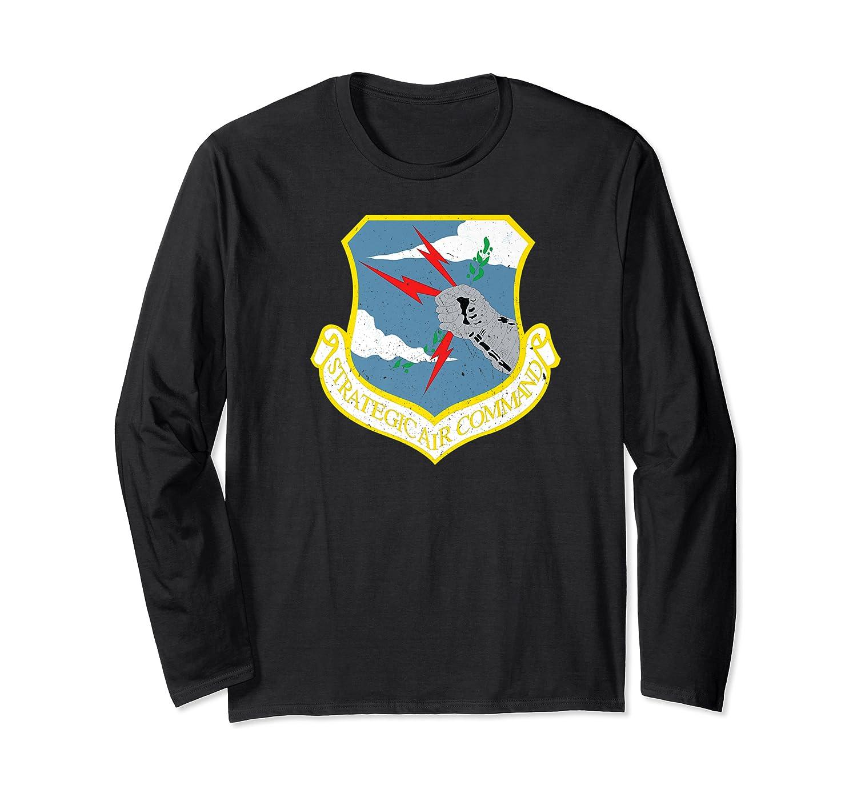 Strategic Air Command Sac Cold War Grunge T-shirt Long Sleeve T-shirt