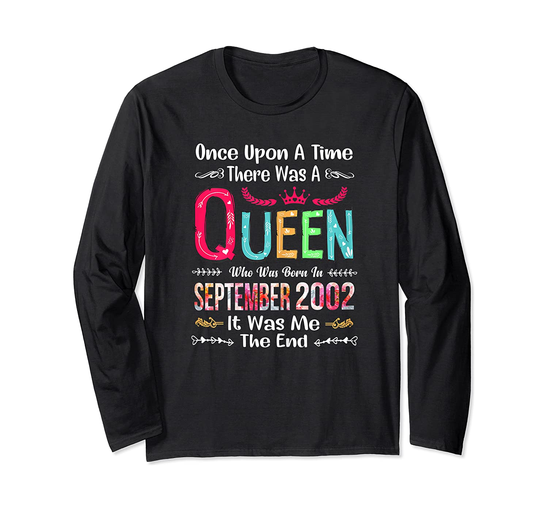 18 Years Birthday Girls 18th Birthday Queen September 2002 Shirts Long Sleeve T-shirt