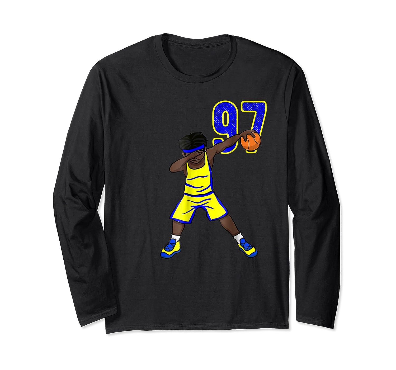 Basketball Birthday T-shirt 97 Funny Dabbing Shirt Dab Long Sleeve T-shirt