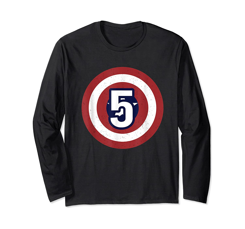 Superhero Comic Birthday T Shirt 5 Year Old Long Sleeve T-shirt
