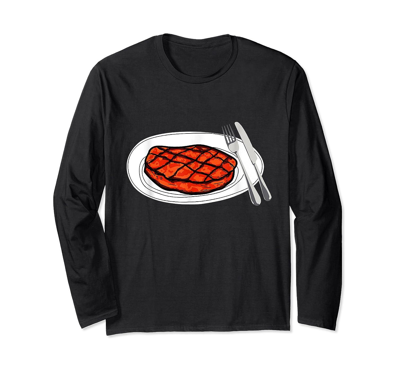 Steak Graphic For A Bbq Steak Lover T-shirt Long Sleeve T-shirt