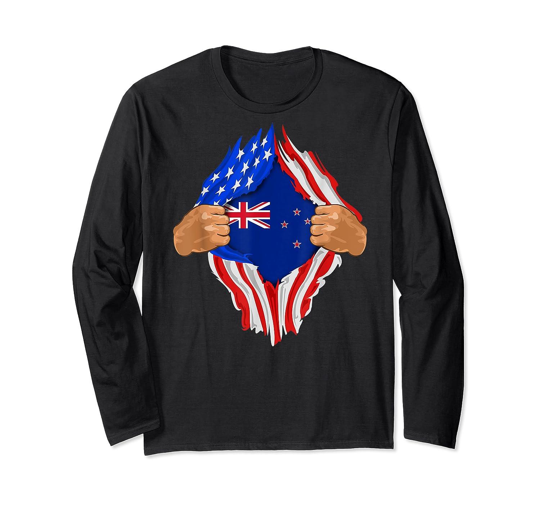 New Zealand Blood Inside Me T-shirt   New Zealand Flag Gift Long Sleeve T-shirt
