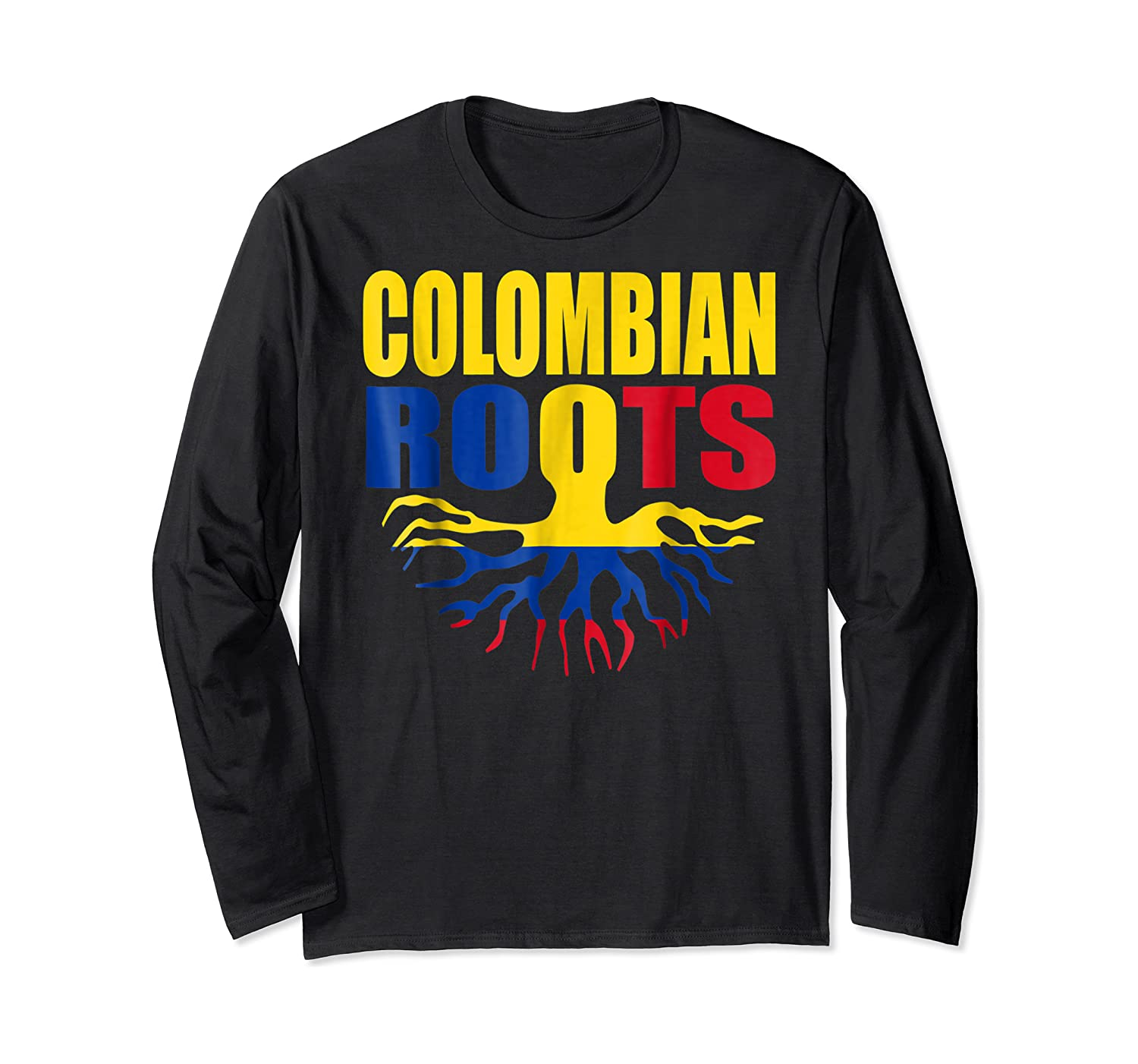 Storecastle Colombian Roots Colombia Flag Pride Shirts Long Sleeve T-shirt