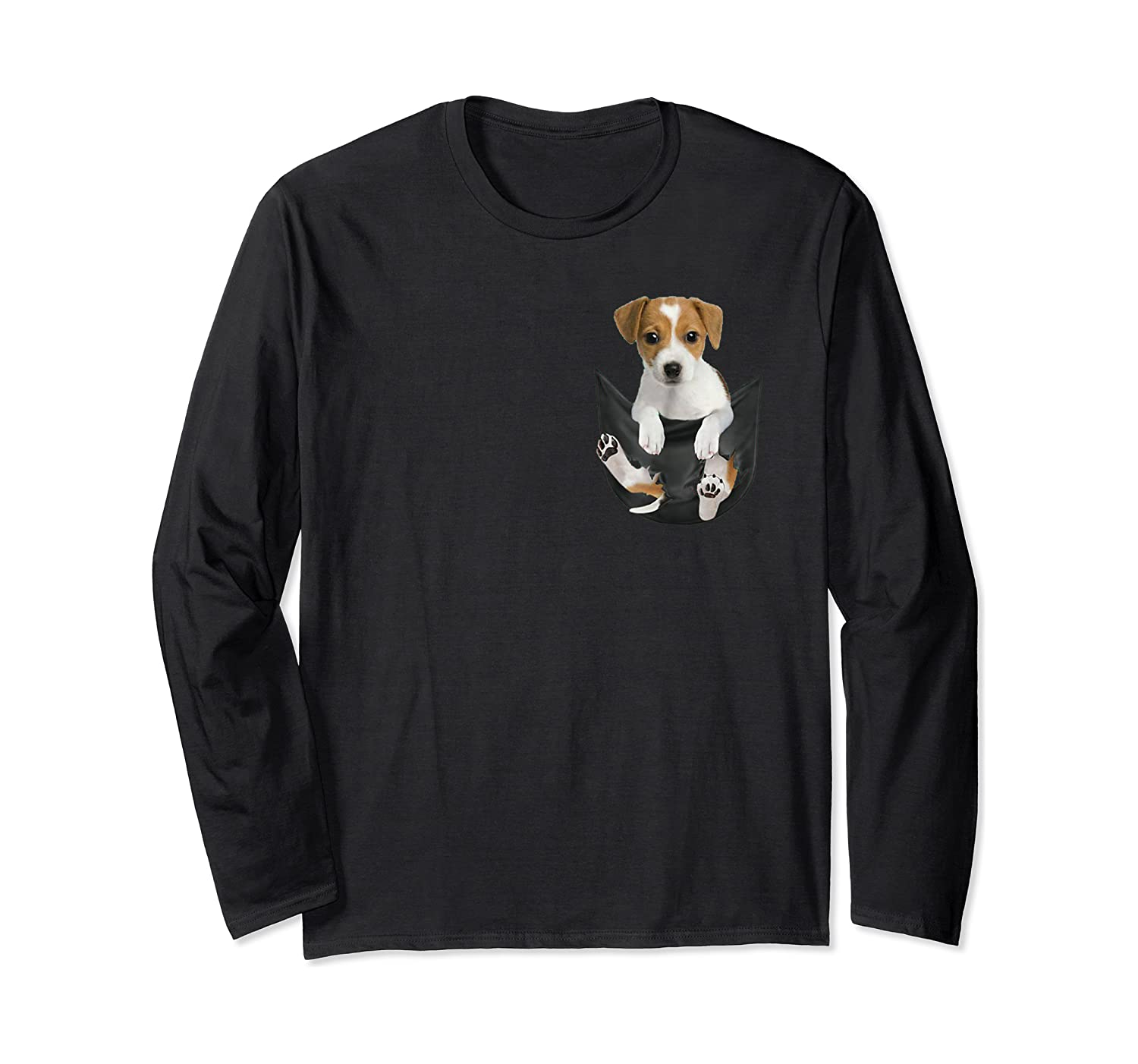 Jack Russell In Pocket Hot Trend Shirts Long Sleeve T-shirt