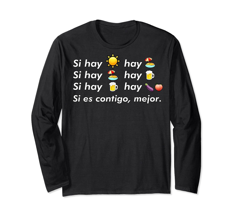 Si Hay Playa Hay Alcohol - Callaita Trap Bunny Emoji T-shirt T-shirt Long Sleeve T-shirt