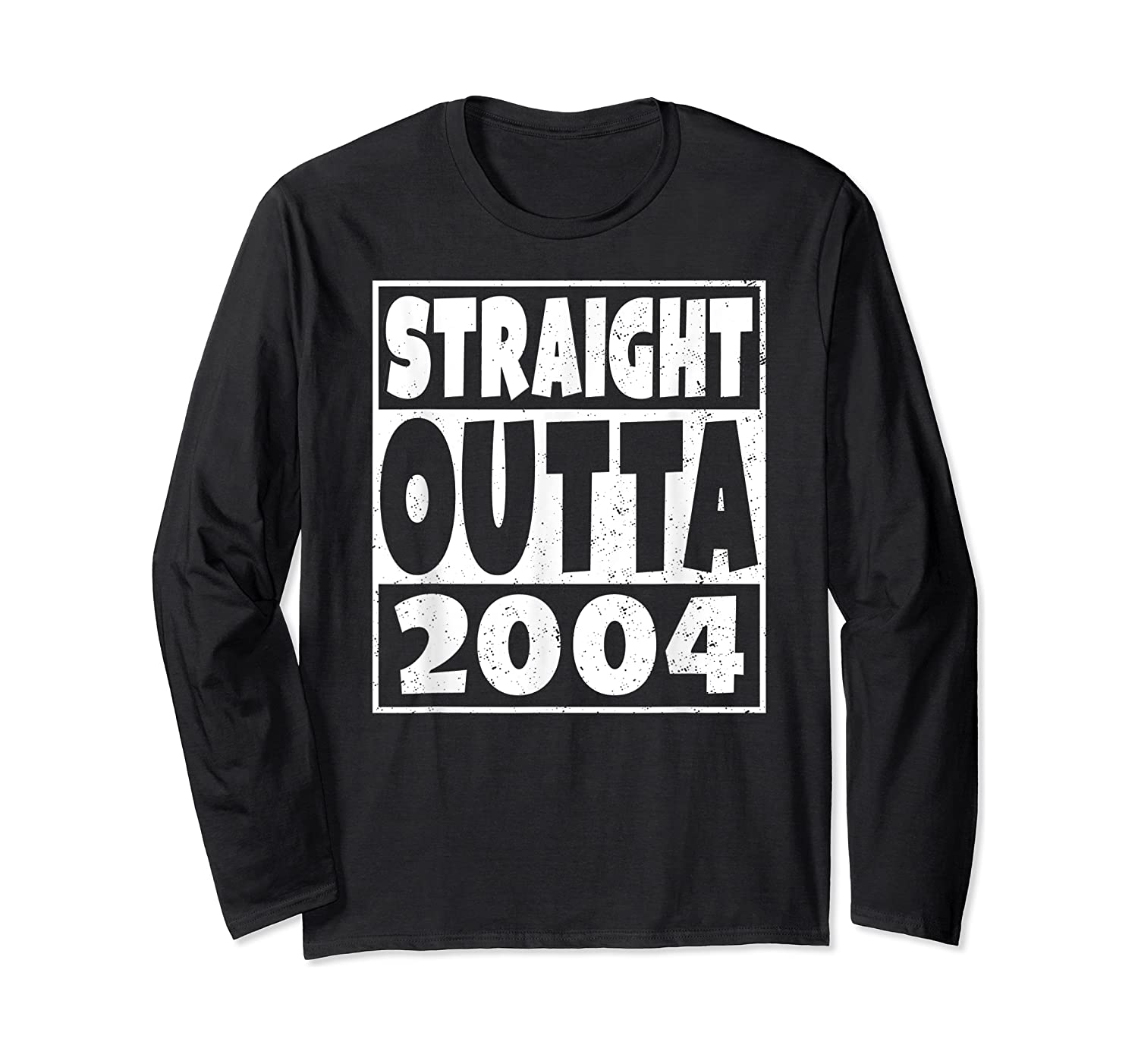 Straight Outta 2004 14th Birthday For A 14 Year Old Shirts Long Sleeve T-shirt