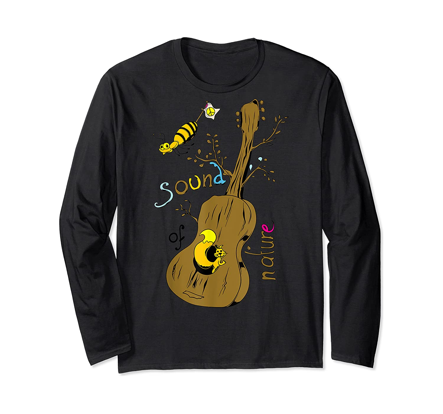 The Sound Of Guitar Tree Nature Shirts Long Sleeve T-shirt