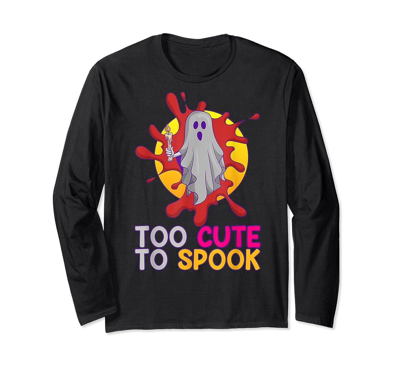 Cute Ghost Girls Costume Spooky Halloween T-shirt Long Sleeve T-shirt