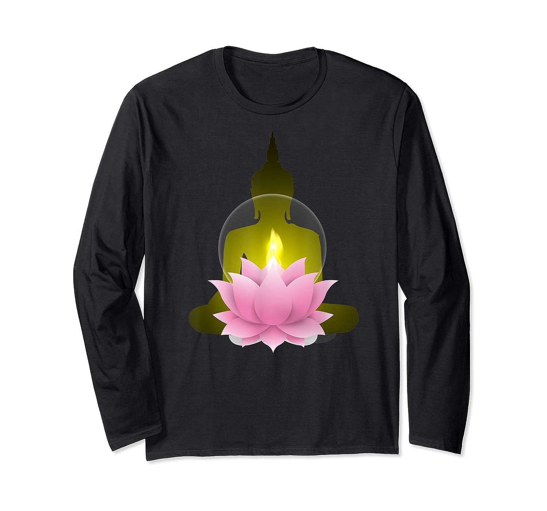 Funny Buddha Lotus Flower Spiritual Zen Meditation Yoga Gift T-shirt Long Sleeve T-shirt