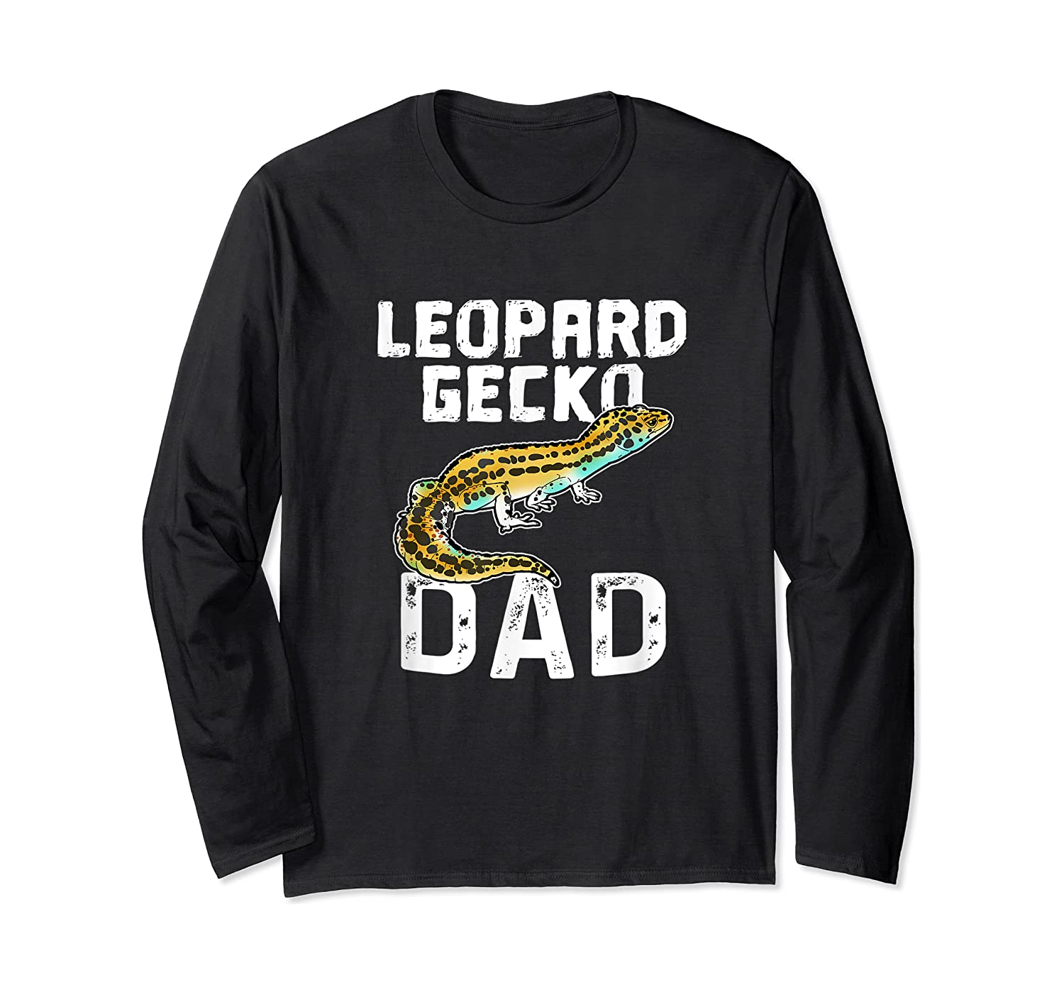 Funny Leopard Gecko Graphic Lizard Lover Reptile Dad Gift T-shirt Long Sleeve T-shirt