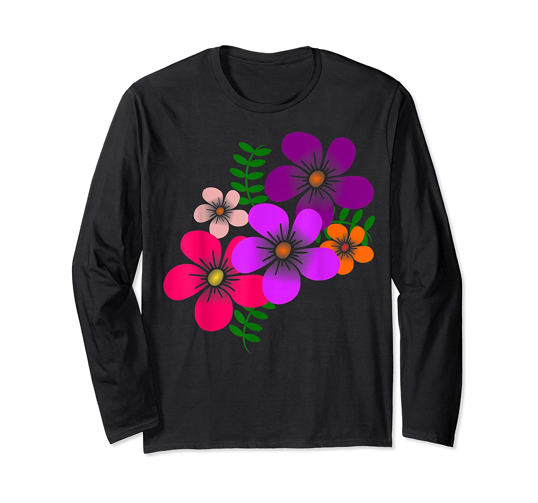 Blooming Flower, Blooms, Blossoms, Garden, Bunch Of Flowers T-shirt Long Sleeve T-shirt