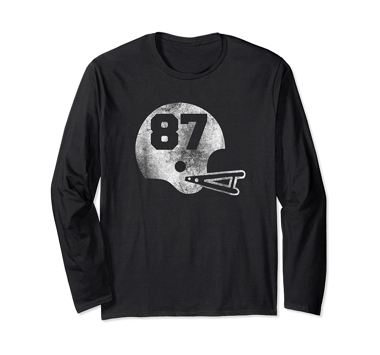 Vintage Football Number 87 T-shirt Player Number Long Sleeve T-shirt