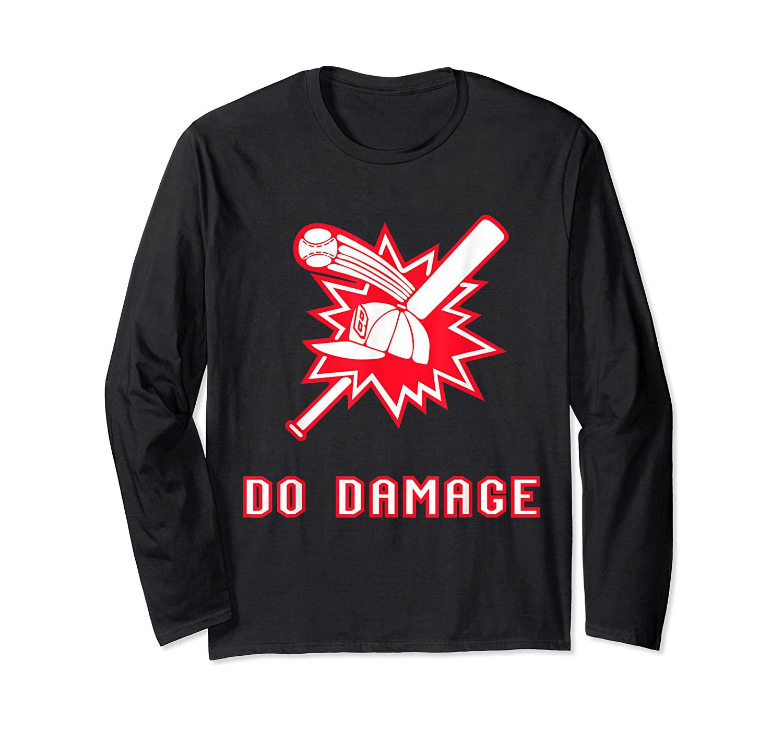Done Damage Red Boston Championship Baseball Fan Awesome T-shirt Long Sleeve T-shirt