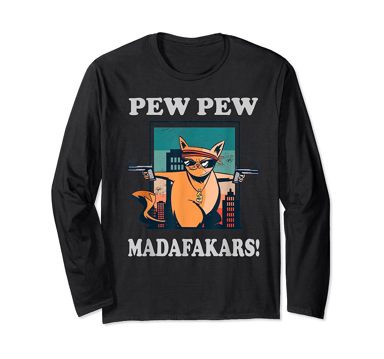 Cat Madafakas Vintage Crazy Cat Funny Graphic Shirts Long Sleeve T-shirt