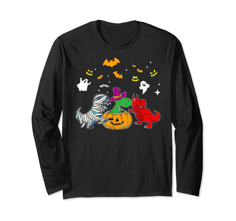 Funny Saurus Halloween Costumes Saurus Lovers Shirts Long Sleeve T-shirt
