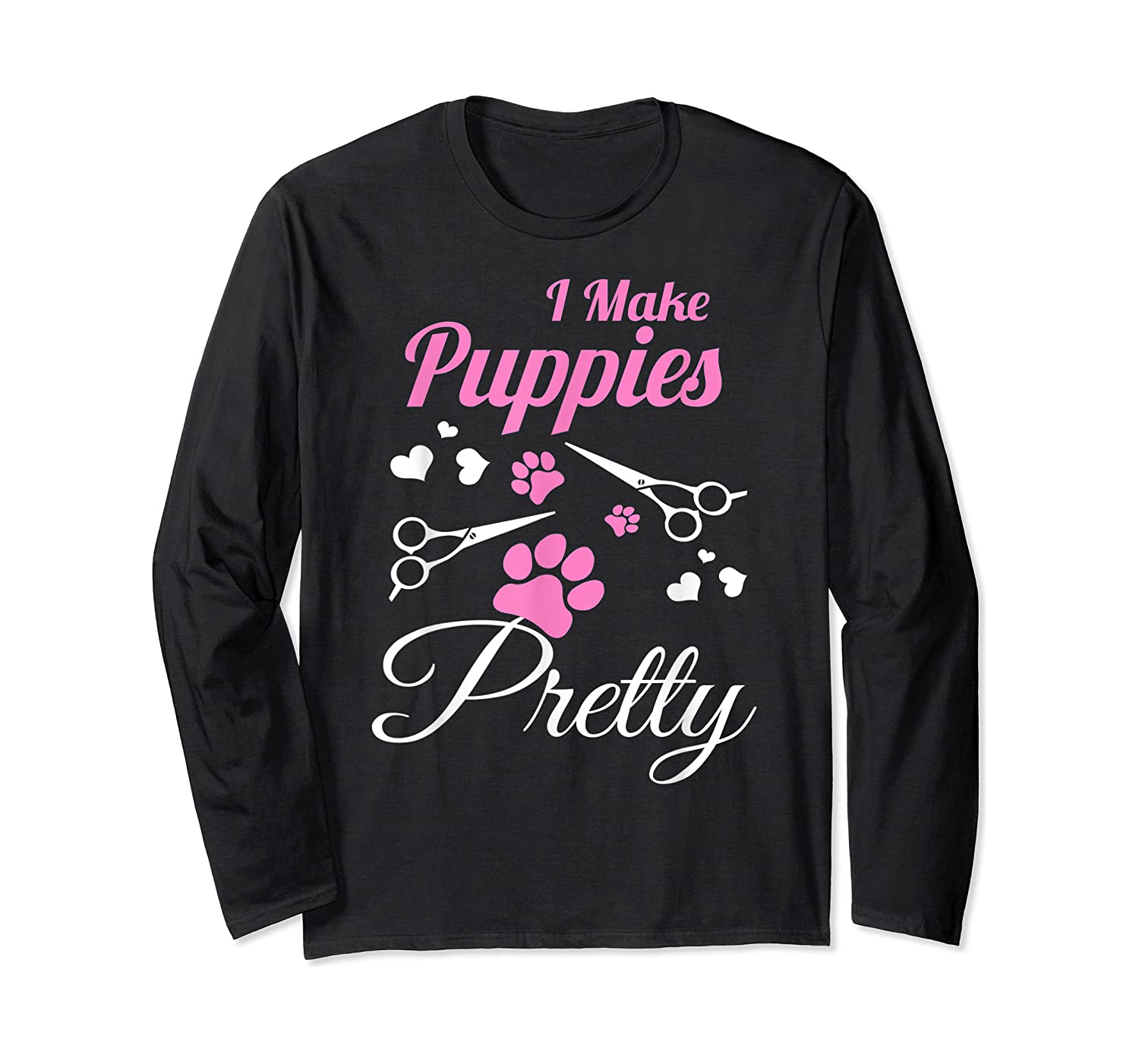 Pet Grooming For Cute Groomer Gift Shirts Long Sleeve T-shirt