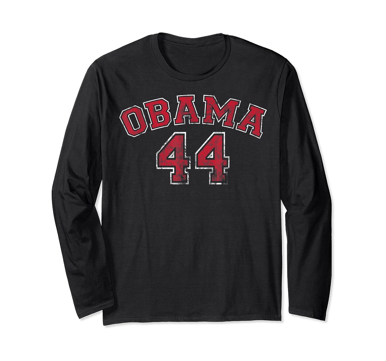 Obama 44 Basketball Shirt Distressed Vintage Tee T-shirt Long Sleeve T-shirt