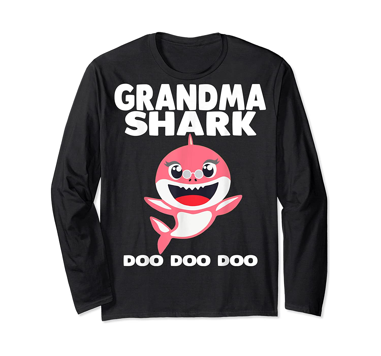 Grandma Shark Doo Doo Shirt For Matching Family Pajamas T-shirt Long Sleeve T-shirt