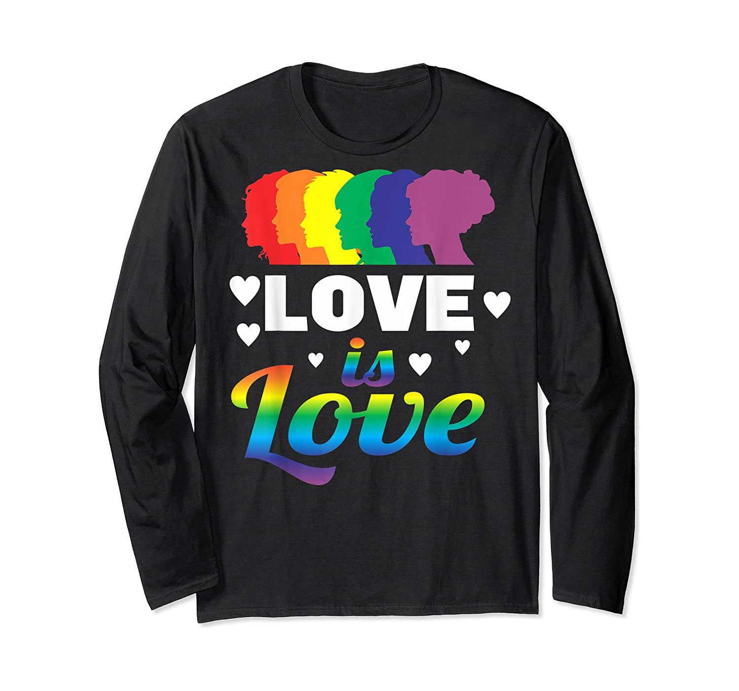 Colorful Pride Love Lgbt Suppor Gifts Love Is Love Shirts Long Sleeve T-shirt