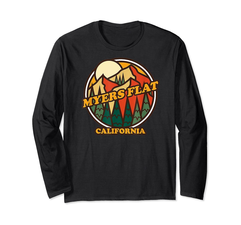 Vintage Myers Flat California Mountain Hiking Souvenir Print T-shirt Long Sleeve T-shirt