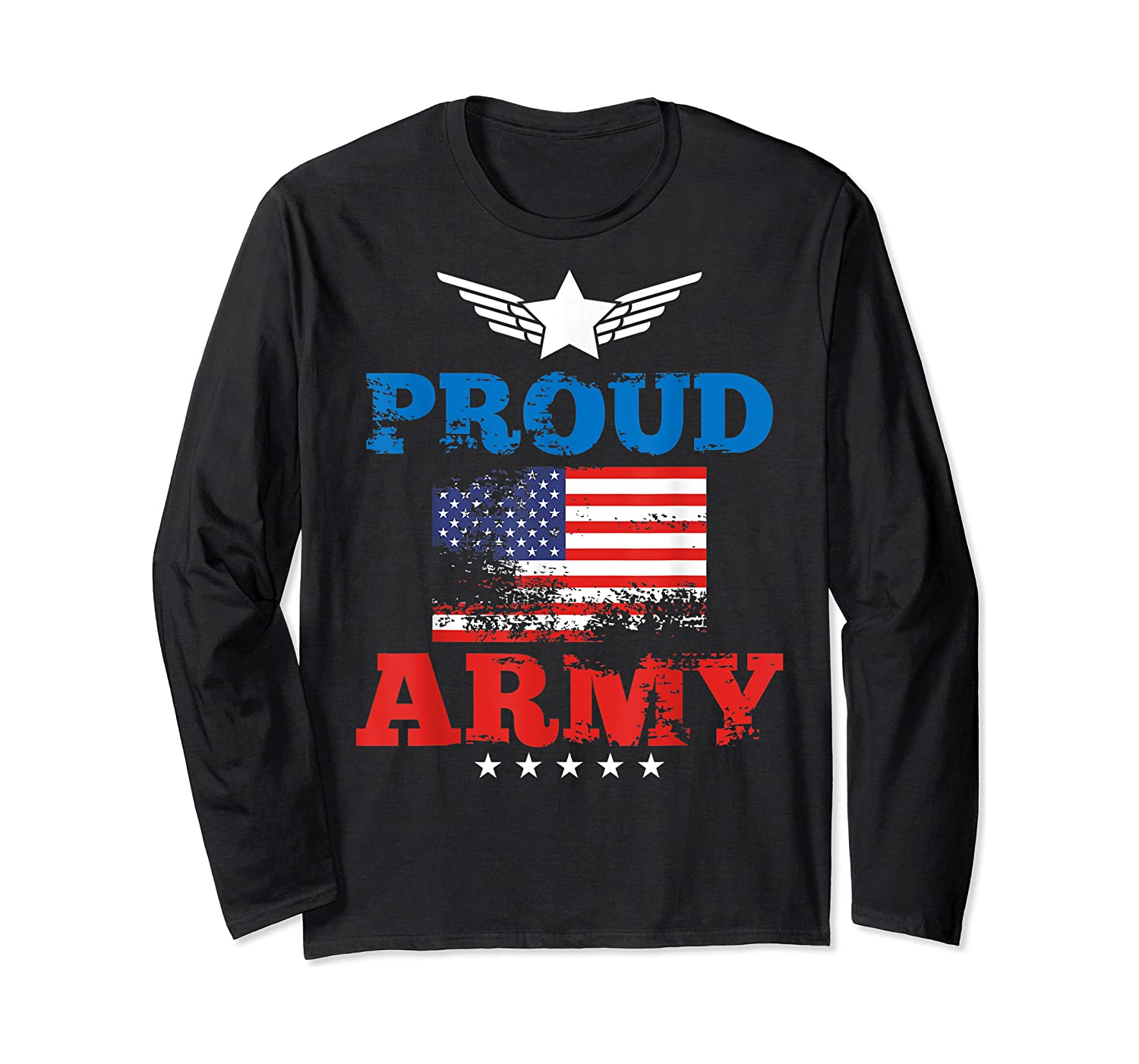 Proud Army American Soldier Air Flag Honor Gift T-shirt Long Sleeve T-shirt