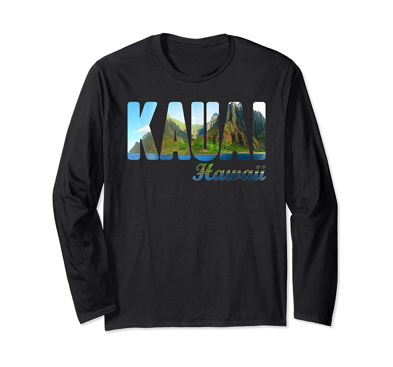 Retro Classic Vintage Summer Kauai Hawaii Shirts Long Sleeve T-shirt