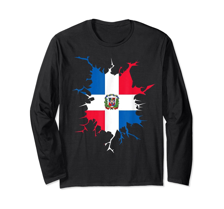 Dominican Republic Flag Inside Dominicana Republica Pride Shirts Long Sleeve T-shirt
