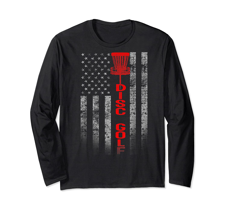 Disc Golf Basket Flag Design Gift For Disc Golfers Shirts Long Sleeve T-shirt