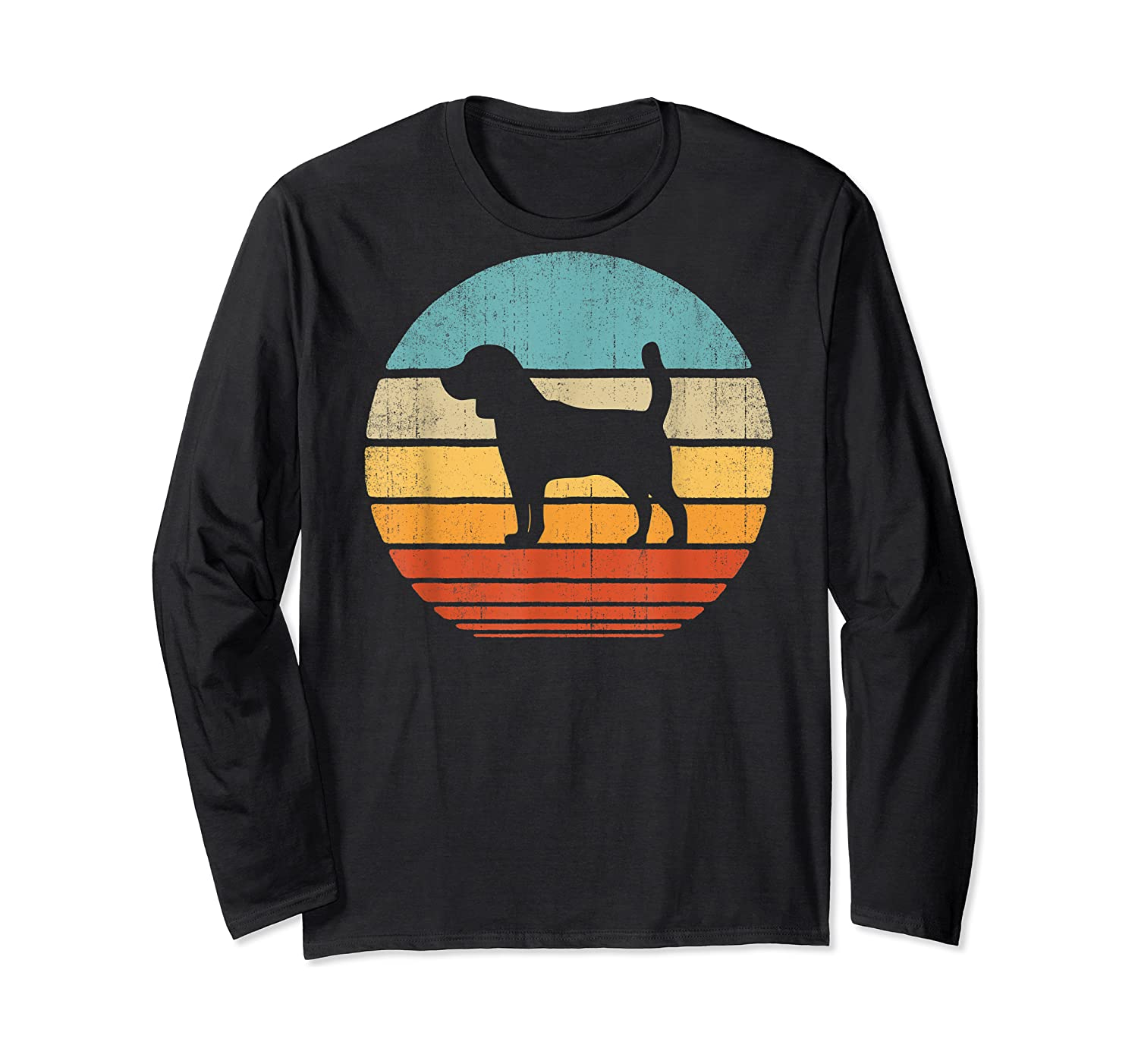 Beagle Retro Vintage Style 60s 70s Gifts Dog Lover Shirts Long Sleeve T-shirt