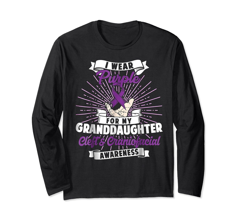 Cleft & Craniofacial Awareness Purple For Granddaughter Ts Shirts Long Sleeve T-shirt