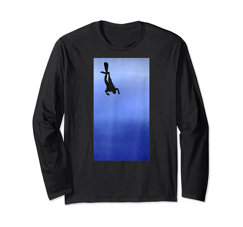 Scuba Diving Ascension Descension Scuba Diver Shirts Long Sleeve T-shirt