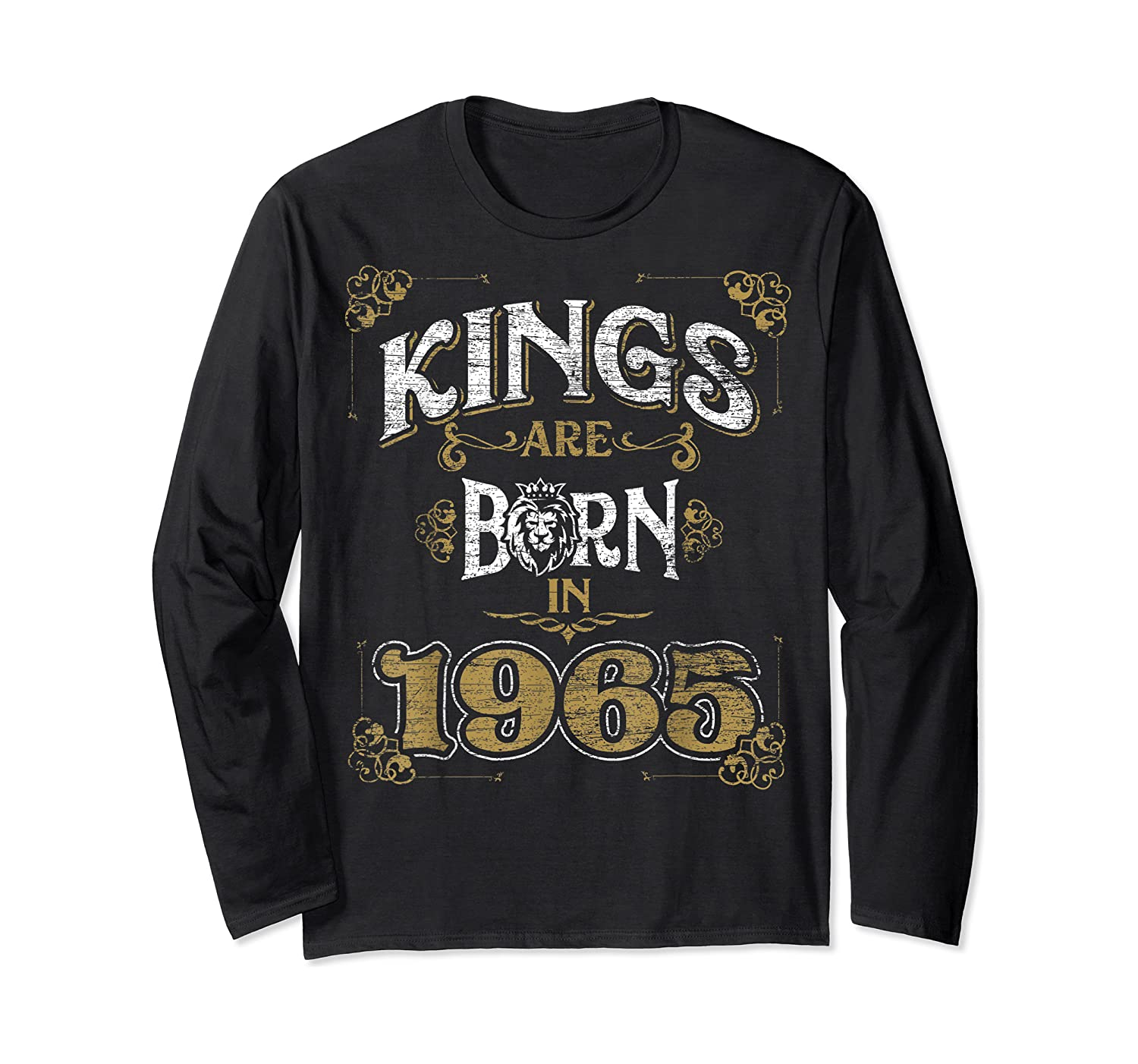 Kings Are Born In 1965 Bday Gifts 55th Birthday Shirts Long Sleeve T-shirt